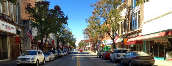 Of course I stood in the middle of the street, one foot in each state. TN on the left; VA on the right.