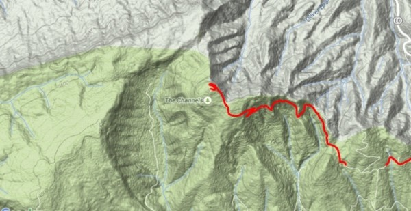 Our hike took us along the Brumley Mountain Trail, from Hayter's Gap to The Great Channels of Virginia.  6.2 miles round-trip, elevation change 1200ft, summit at 4208 feet.