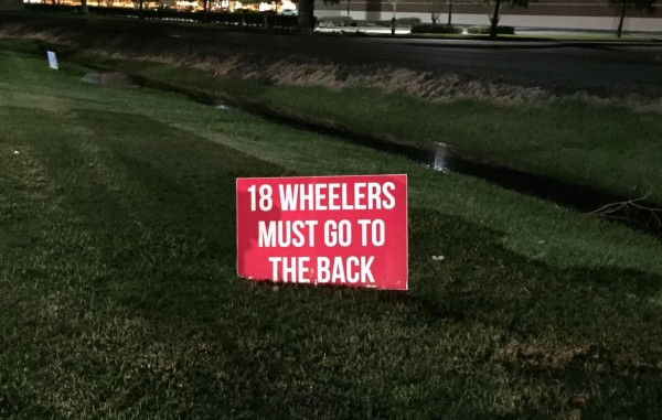 Ha! We only have ten. Parked right in front of that there sign. Neener!