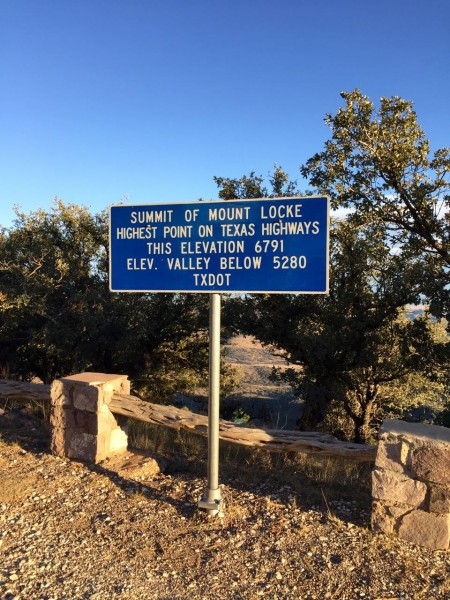 Highest road maintained by TXDOT...