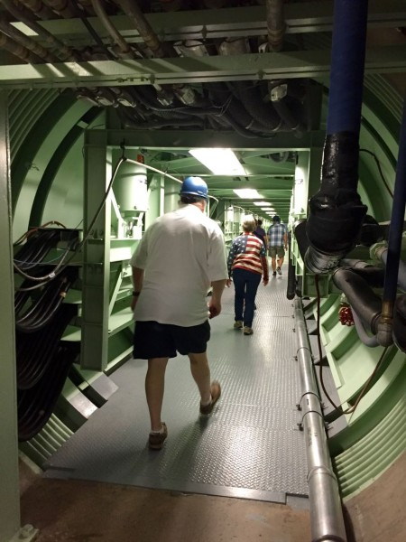 The passageway from control room to silo