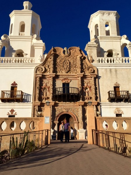 Mission San Xavier, with we(e) two in front