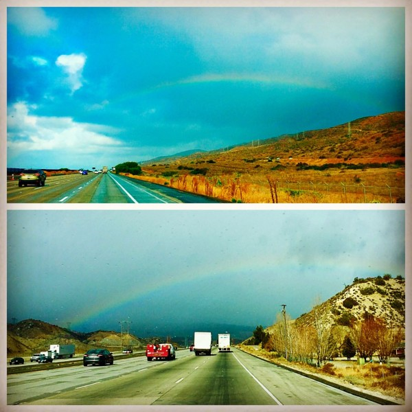On Dec. 11, we drove from Escondido to Travis AFB. Other than the rainbows, the journey up the 5 was really rather unpleasant, and we do not intend to take on LA traffic in an RV ever again. Ever.