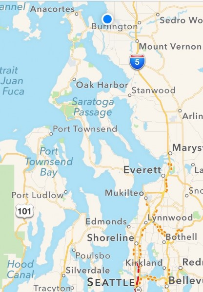 Today, we finally arrived at our Christmastime destination, Bay View State Park. Family surrounds us in Mount Vernon, Port Townsend, and Bellingham, and Dane will fly up from San Antonio to join us next week. We get both sons with us for Christmas this year, and that is a gift!