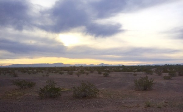 Nothing wrong with waking up in the desert.