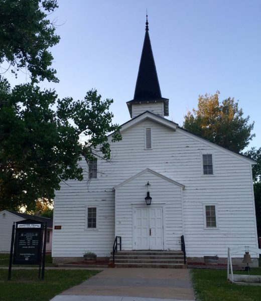 As we walked by the old chapel (yes, there's a new one), the chaplain rode by on his bicycle and greeted us, almost as if we'd conjured him.