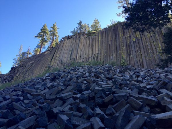 This is the Devil's Postpile. See? Not a letter or package in sight, just columnar basalt.