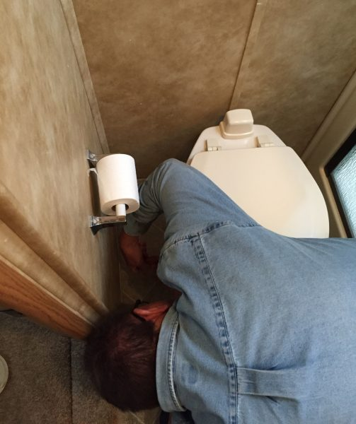 One of the toughest parts of any RV repair job: maneuvering in really tight spaces