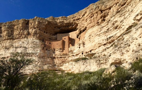 On the way back from Sedona, we made thrifty use of our National Parks Pass, and spent about an hour exploring Montezuma Castle National Monument