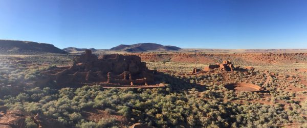 """The Wupatki Pueblo is the largest set of ruins. According to the park brochure, """"Once a regional center for trade, this 104-room pueblo features a billboard and unique geologic blowhole."""""""